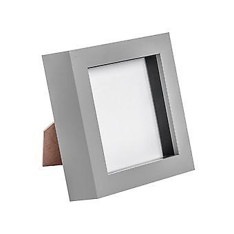 Nicola Spring Photo Frame - Marco de caja de acrílico (cubierta de vidrio) - 4x4in - Gris