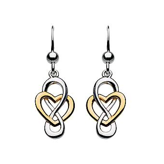 Heritage Cara Gold Celtic Looped Heart Earrings 6207GD015