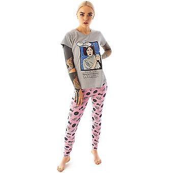 Star Wars Pyjamas Naiset&s Prinsessa Leia Leggingsit Loungepants & T-paita PJ Set