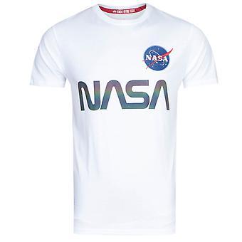 アルファ産業NASA反射白Tシャツ