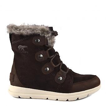 Sorel Explorer Joan Suede Boots Blackend Brown