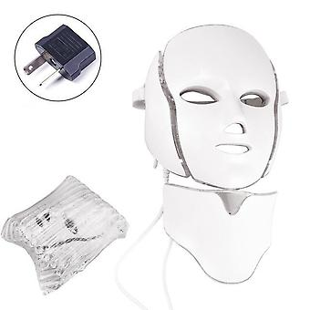 Air Bag 7 Colors Light Led- Facial Mask With Neck Skin, Rejuvenation Face Care