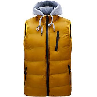 Winter New Men's Jacket Jacket Casual Hooded Detachable Fashion Vest Trend Thick Warm Cotton Coat