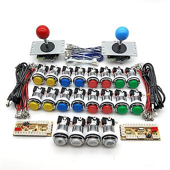 Zero Delay Arcade Kabinett für 5v Led Chrome Druckknopf, Joystick 1 & 2 Player