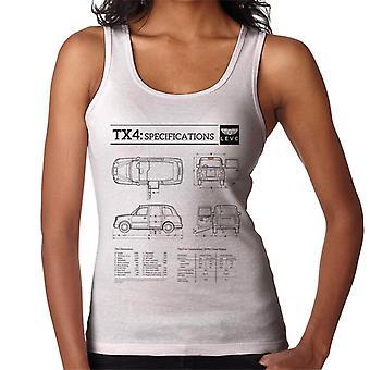 London Taxi Company TX4 Specifikationer Blueprint Kvinnor' s Väst