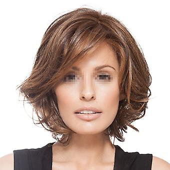 Fashionable Wig Short Curled Hair Cap