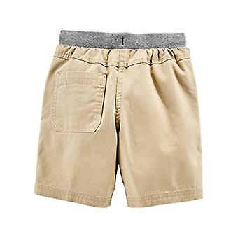 Simple Joys van Carter's Baby Boys' Peuter 2-Pack Shorts, Khaki, Navy, 2T