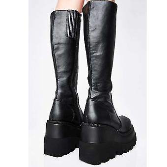Female Platform Boots Wedges Thick Bottom Women Boots Autumn Winter Punk Cool