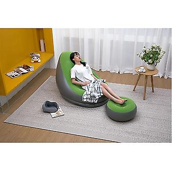Relax Lazy Sofa Inflatable Sofa Chair And Ottoman Set Stool Chair Lounge Chair