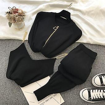 Efteråret Strikket Sweater Suit Casual Nyt produkt Temperament Kæde Vest strikket