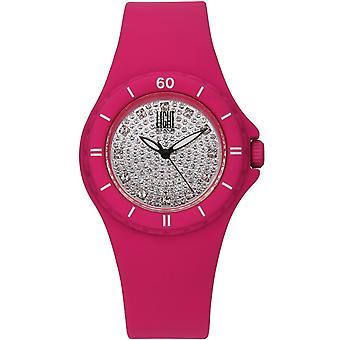 Light time watch silicon strass l122fu