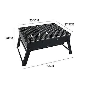 Stainless Steel Foldable Portable Barbecue Grill Charcoal Grill Outdoor Barbecue Grill Consumer And Commercial Barbecue Grill Camp Travel