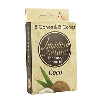 Coconut Incense Cones 15 units