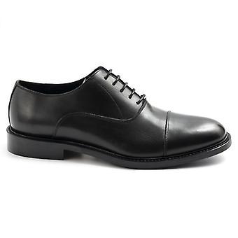 Cipő csipke-up fekete sangiorgio modell oxford tip