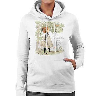 Holly Hobbie Natures Little Things Dark Text Women's Hooded Sweatshirt