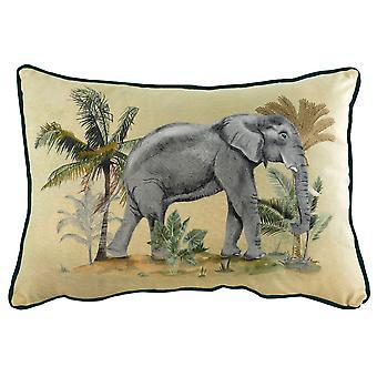 Evans Lichfield Kibale Elephant Cushion Cover