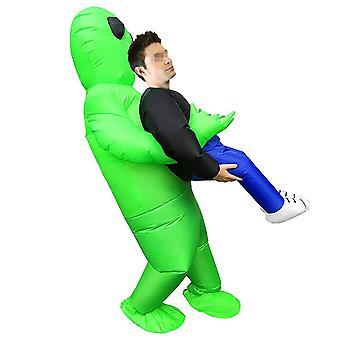 YANGFAN Inflatable Costume Green Ghost Hug People