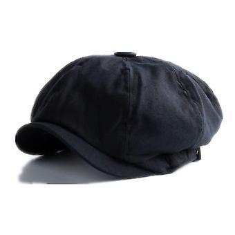 British Style Newsboy Cap, Cotton Ascot Beckham Khaki Octagonal Flat Cap