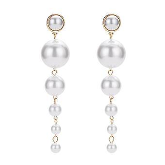 New Jewelry Pearl Stud Earrings Accessories Female Fashion Earmuffs (white)