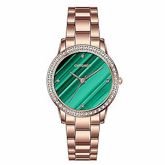 CHRONOS CH35 Crystal Gold Case Damski zegarek kwarcowy w stylu biznesowym