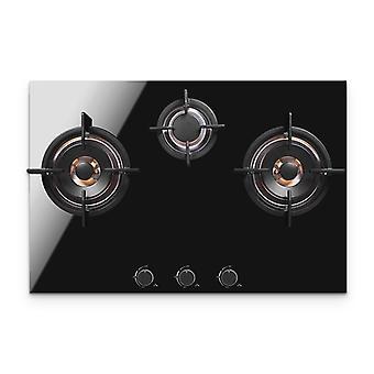 Huishoudelijke gasfornuis 3-gats multi-head aardgas embedded desktop kachel