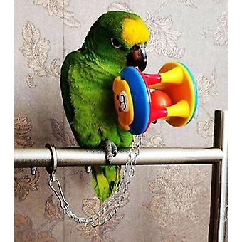 Cute Pet Bird Plastic Chew Ball Chain Cage Toy For Parrot