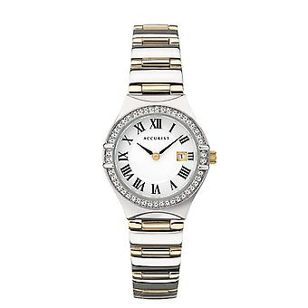 Accurist 8204 Two Toned Gold & Silver Stainless Steel Ladies Watch