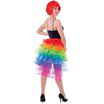 Bristol Novelty Unisex Adults Rainbow Bustle Skirt