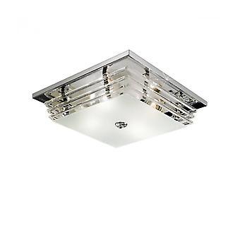 Lámpara De Techo Cromada 4 Focos Ontario