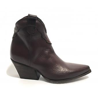 Shoes Woman Ad. Side Texan Calfskin Ankle Boot Color Moro Head D20ad04