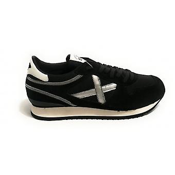 Scarpe Munich Sneaker Nou Tessuto/camoscio Nero/ Silver Unisex U19mu12