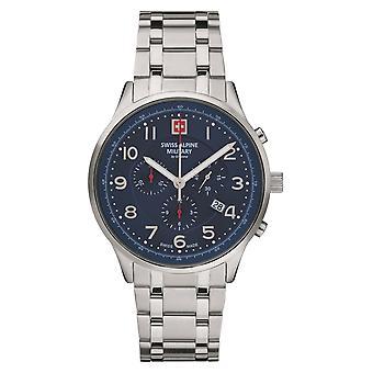 Swiss Alpine Military Men's Watch Chronograph Analog Quartz 7084.9135SAM Roestvrij staal