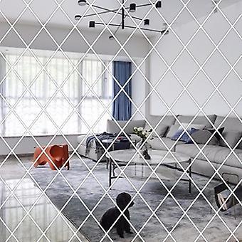 Seinä tarrat, Itseliimautuva Art Tarrat, Timantti muoto peili tarra tv