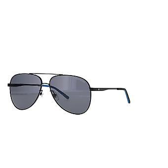 Montblanc MB0103S 001 Svarta/Grå solglasögon
