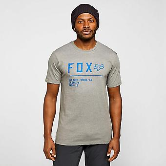 New FOX Men's Non Stop Premium Short Sleeve T-Shirt Grey