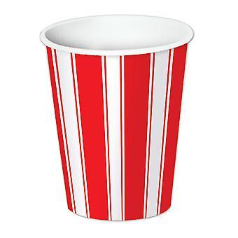 Tazze per bevande a strisce rosse e bianche (confezione da 12)