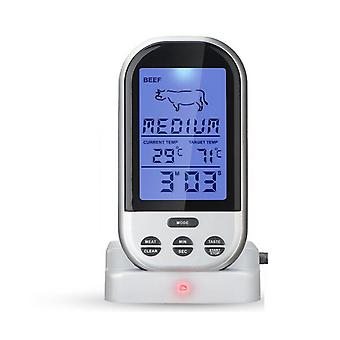 Wireless Digital Thermometer With Lcd Screen Kitchen Cooking Bbq Grill Monitor With Timing Alarming Functions 0℃~250℃