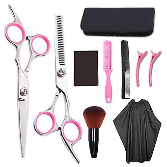 Haircut scissors straight snips thinning hairdressing barber tools lf4
