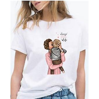 Moeder Dochter T-shirts, Family Look Mom Baby T-shirt