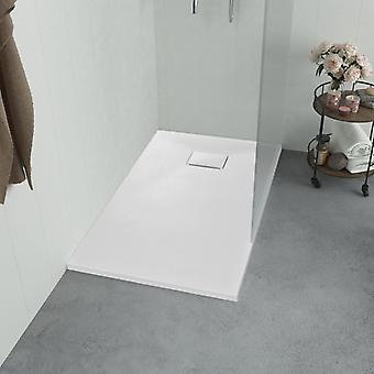 vidaXL Shower tray SMC White 100×70 cm