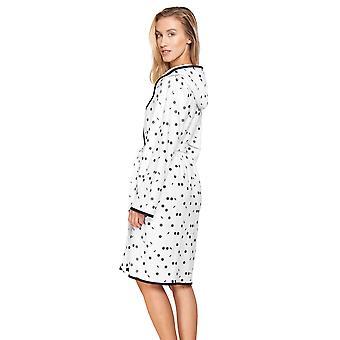 Rösch Pure 1213128-16528 Women's Artdot Cotton Robe