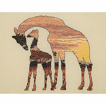 Anchor Counted Cross Stitch Kit: Maia Collection: Giraffes Silhouette
