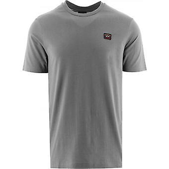Paul & Shark Grey Heritage Logo Egyptian Cotton T-Shirt