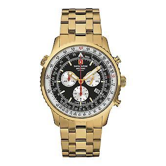 Schweiziske Alpine Militær 7078.9117SAM Mænds Watch Chronograph