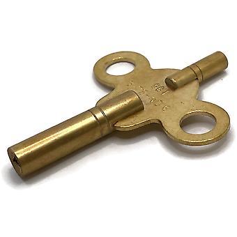 Kaksipäinen kello avain messinki intialainen koot