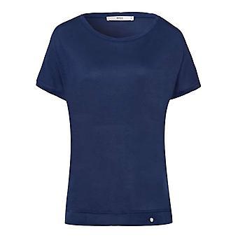 BRAX Caelen New Fluid T-Shirt, Blue (Indigo 23), 42 (One Size: 36) Woman