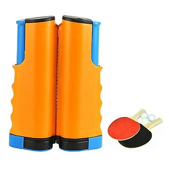便携式运动乒乓球套 1.7 米可伸缩网进行锻炼
