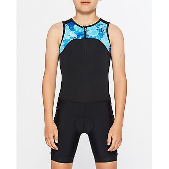 2XU Kids Active Youth Trisuit Triathlon Swimming Cycling Running Sports Suit