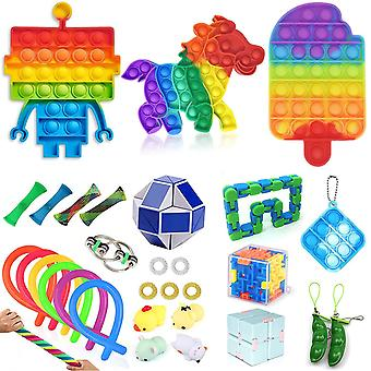 Aisti fidget lelut asettaa kupla pop stressiä helpotus lapsille aikuiset Z76