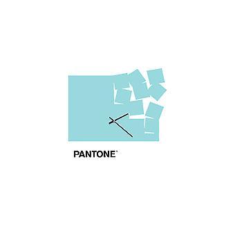 PANTONE Orologio Fly Away Colore Azzurro, Bianco, Nero, in Metallo L40xP0,15xA40 cm
